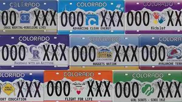 Specialty Colorado license plate