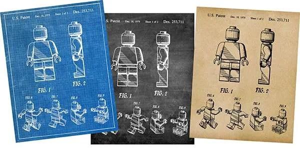 Lego patent prints