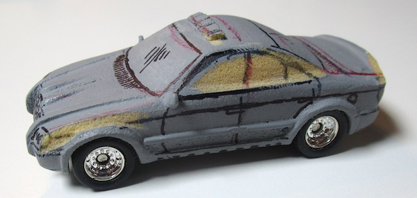 matchbox prototype police car detail