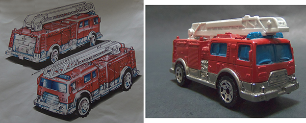 Matchbox ladder truck