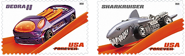 hot wheels postage stamps
