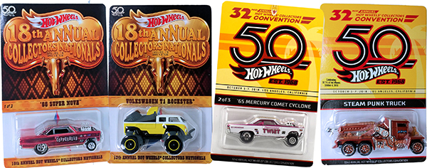 hot wheels 50th convention cars