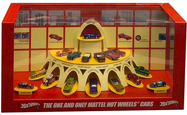 hot wheels 50th display