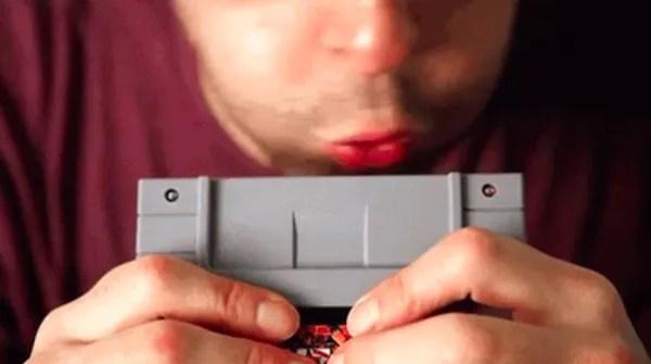blow on nintendo cartridge