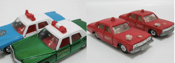 tomica poilice fire cars