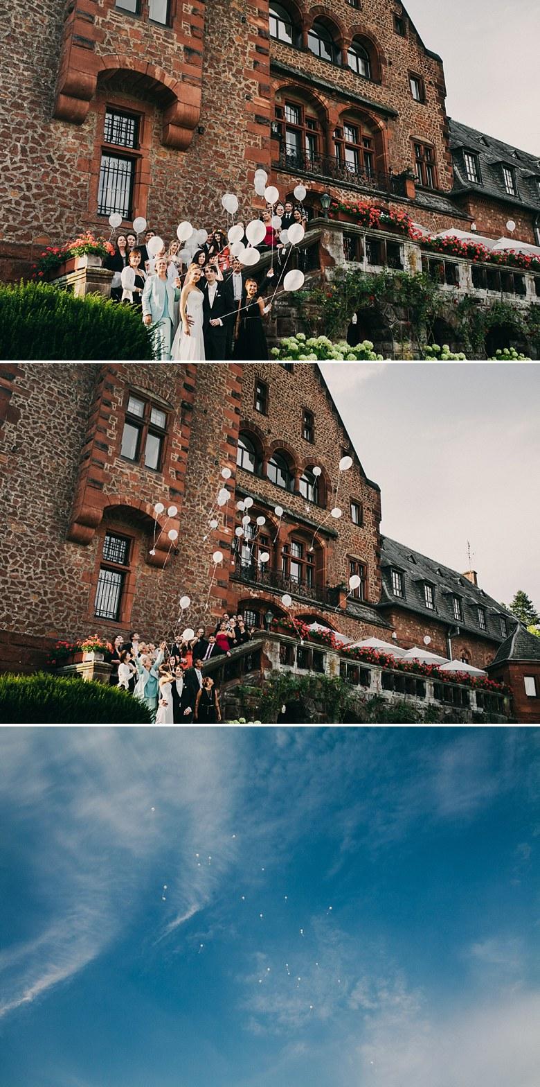 Hochzeitsfotos auf Schloss Saareck