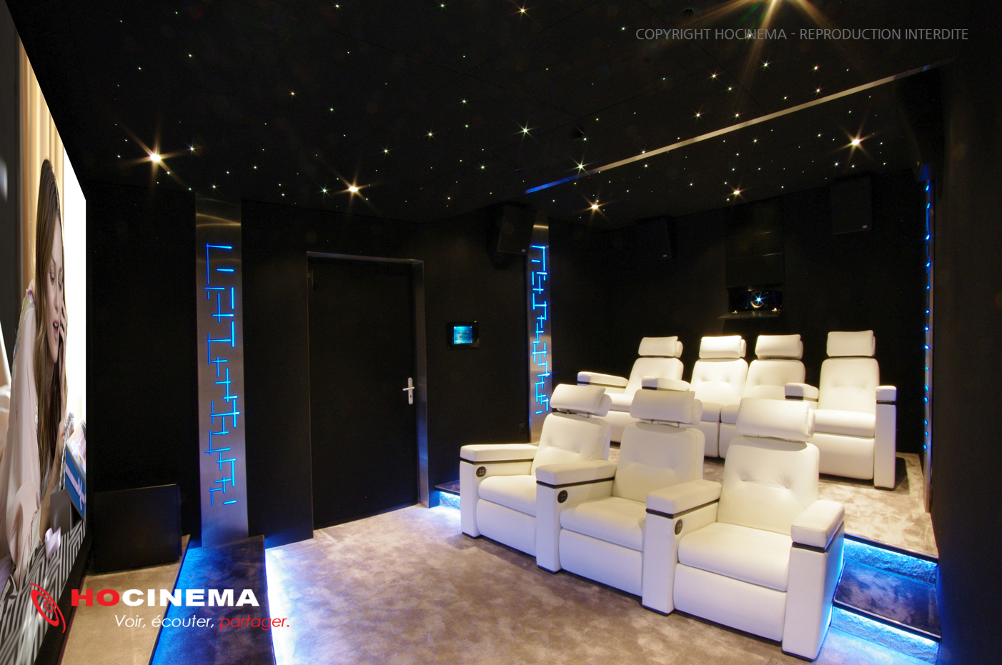 salle home cinema alik l gance et technicit visiter. Black Bedroom Furniture Sets. Home Design Ideas