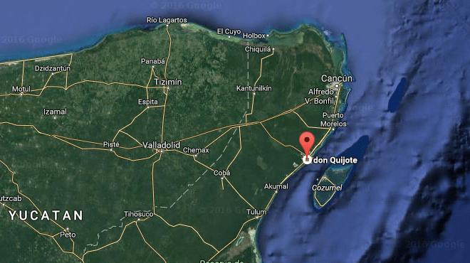 Karte Playa del Carmen