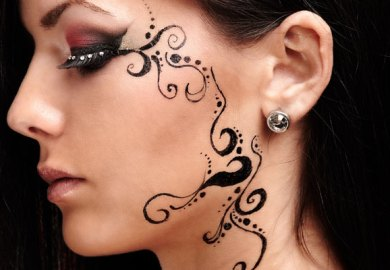 Henna Face Tattoo