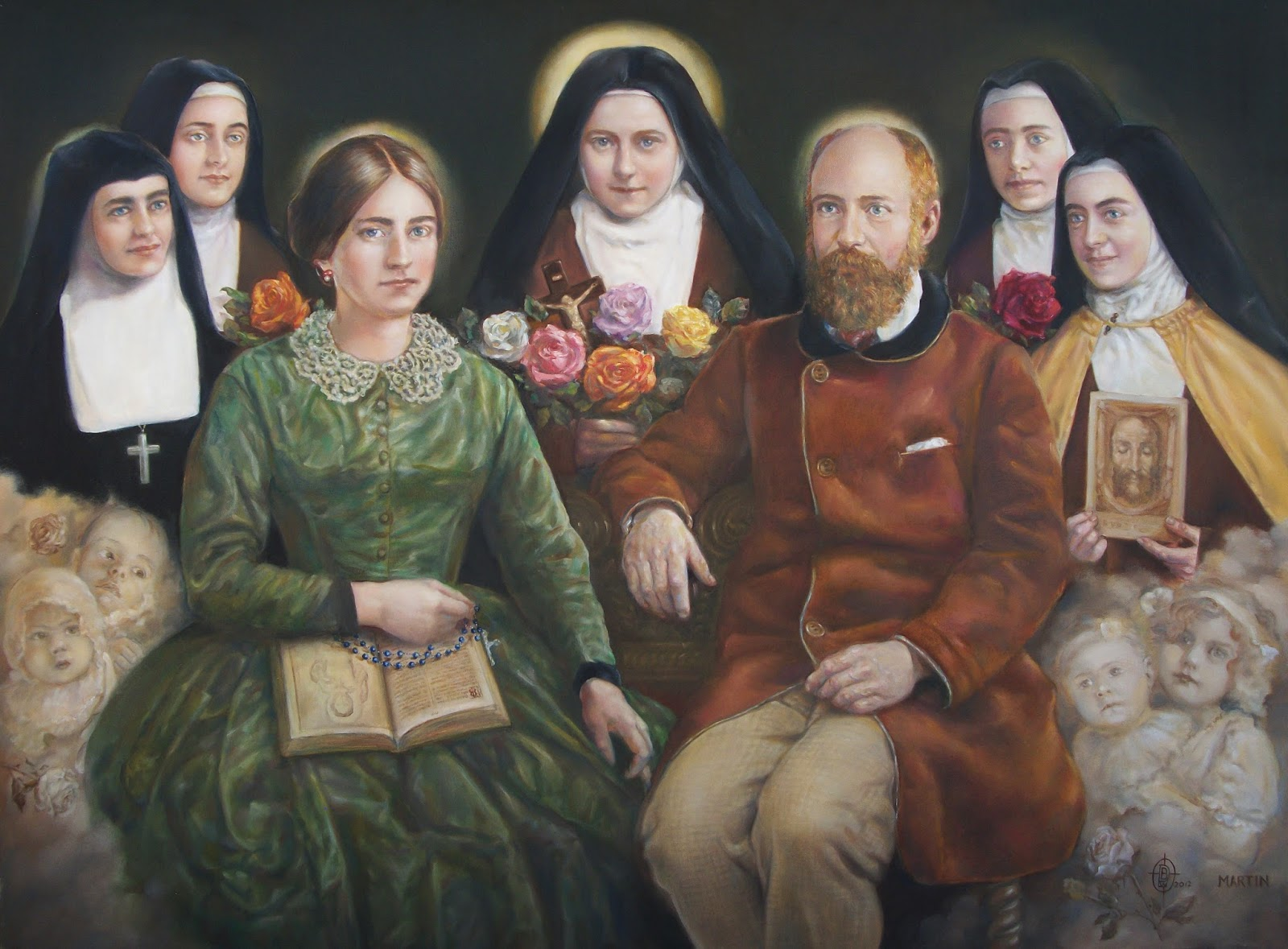 Image result for catholic family saints therese