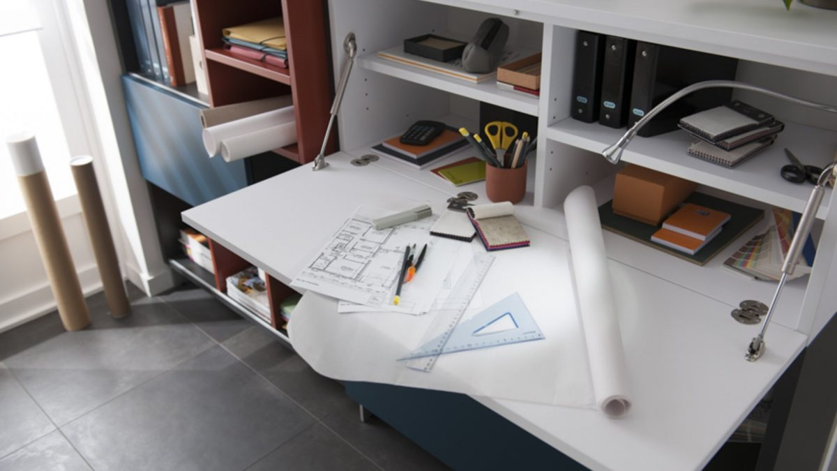 coin bureau dans une petite surface