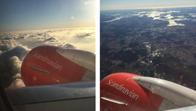 Flying from Heathrow to Stockholm