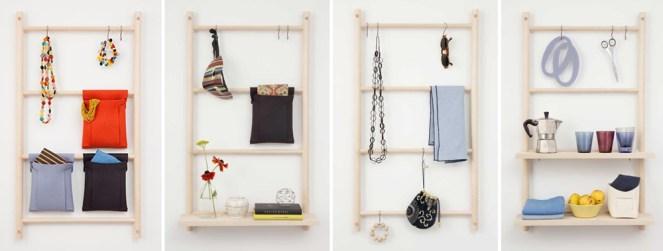 Verso Design Decorative Storage Wall Ladders