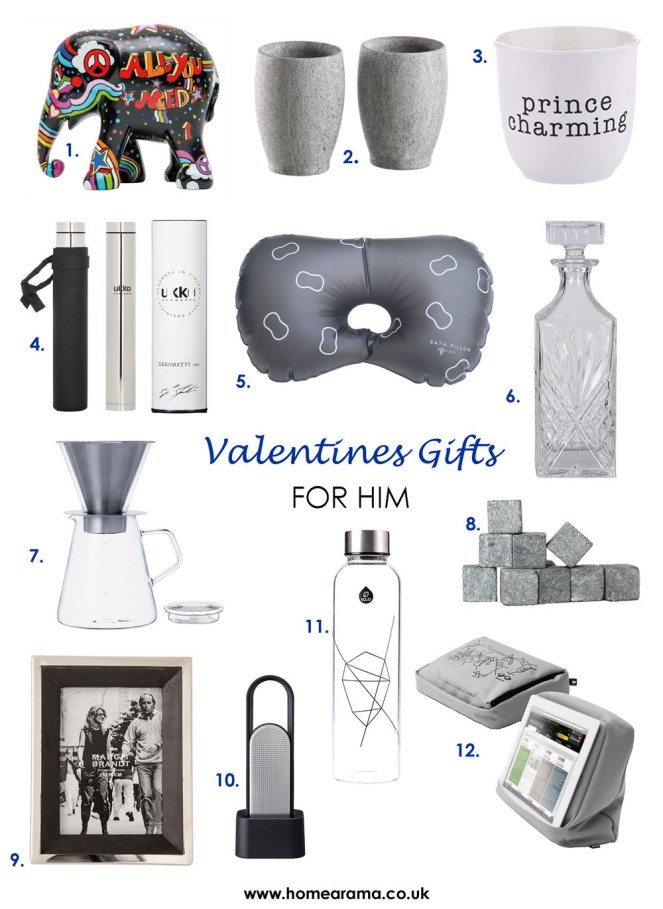 Valentines Gifts For Him 2018 numbered