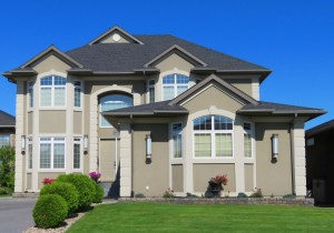 Large suburban home.