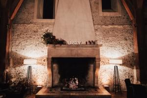 A beautiful fireplace.