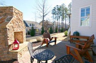 The back patio at 109 Honeyridge