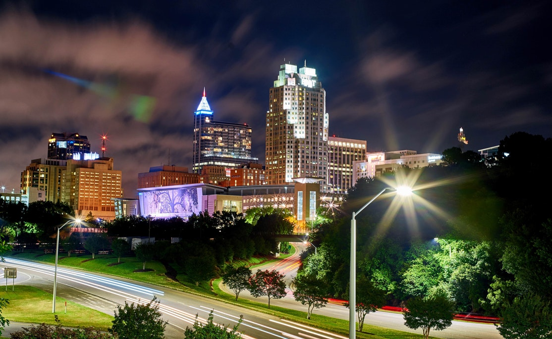 the skyline of Downtown Raleigh