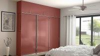 Wardrobes Door & Mirrored Closet Doors With Wood Inlay