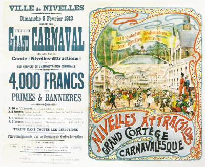 French carnival flyer
