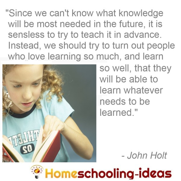 Jouhn Holt - Since we can't know what knowledge will be needed