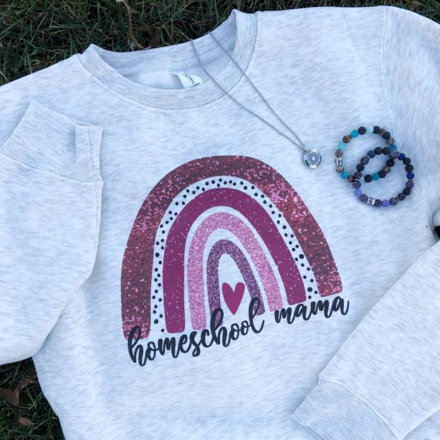 Homeschool Shirt and Essential Oil Jewelry
