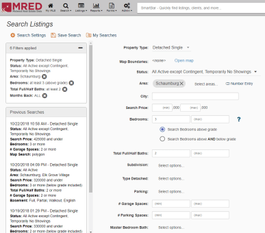 Homesnap MRED Client Search