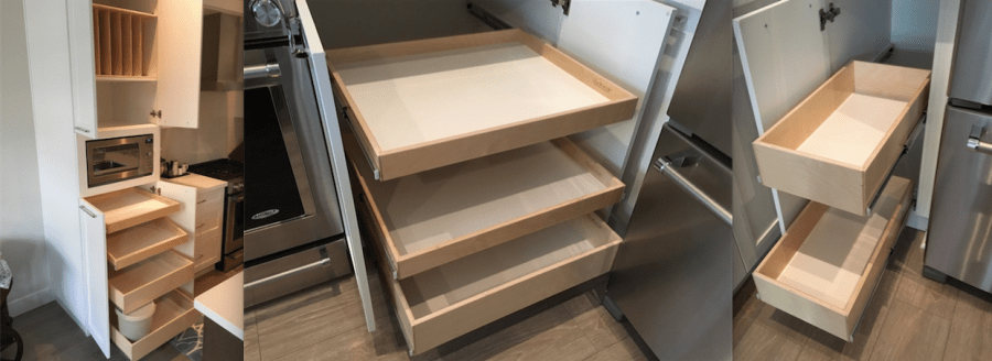 Pantry pullout drawers by Shelf Genie of British Columbia