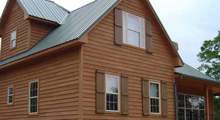 wood siding on house