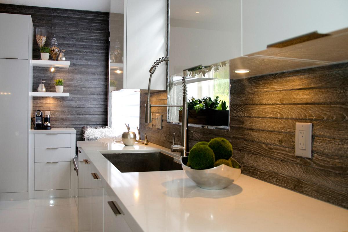 kitchen backspash blue wall clocks 6 backsplash ideas that aren t tile photo courtesy of home dreamy