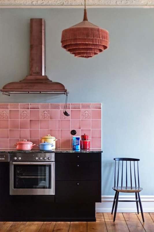 fringe lighting fixture in kitchen
