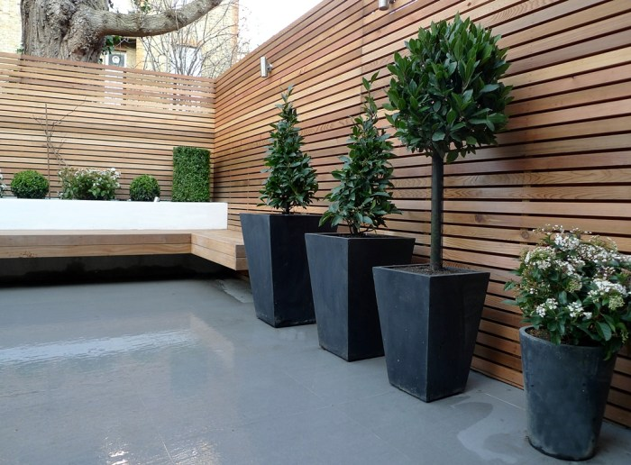 slatted wood privacy fence
