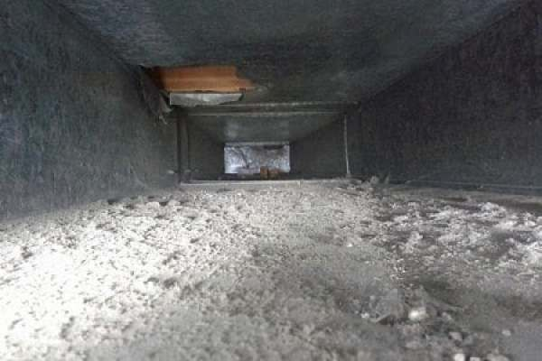 picture of dirty ductwork