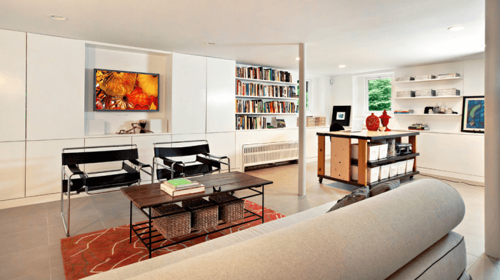 clear the clutter in your basement