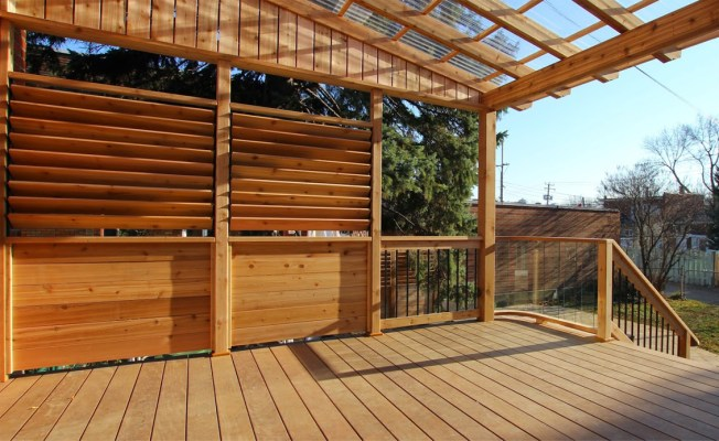 redwood and cedar deck material