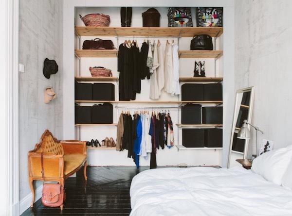 exposed closet bedroom trends 2019