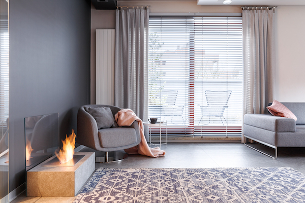 increase home's privacy add blinds and curtains