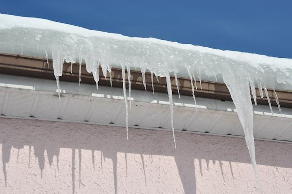 ice dams winter weather roof damage