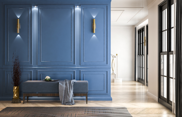 painted blue wall pantone colour of the year