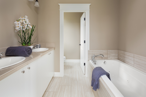 renovated bathroom by licensed and insured bathroom contractor