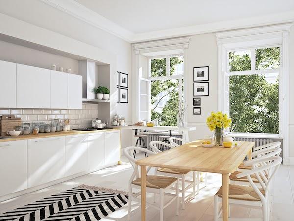 kitchen renovation in summer