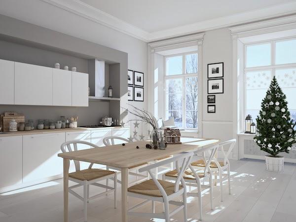 kitchen renovation in winter