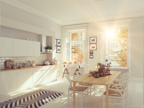 kitchen renovation in fall