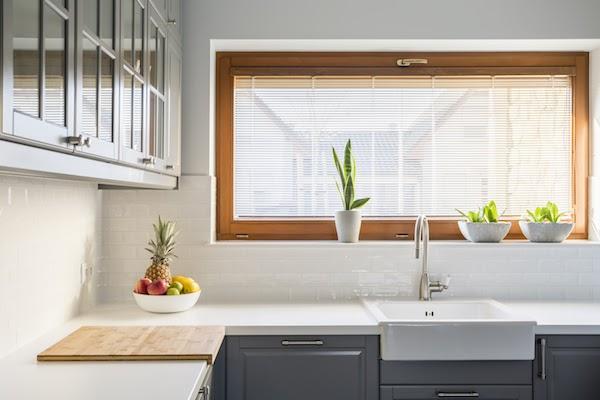 clean kitchen windows