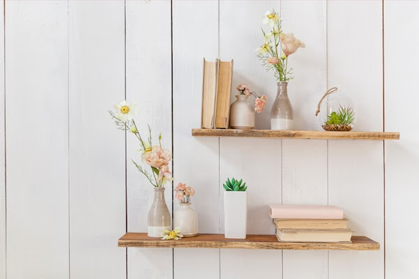 pretty floating shelves