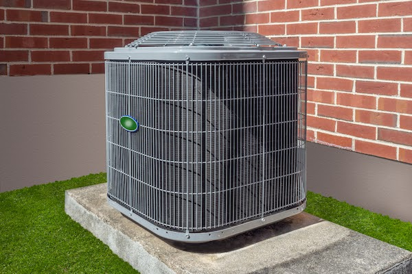 central ac unit outside of home