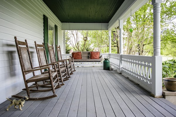 front porch of home old