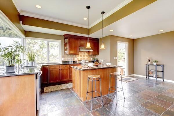 Natural Stone Tile kitchen flooring