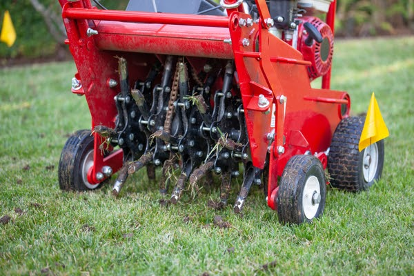 aerating lawn for fall landscaping
