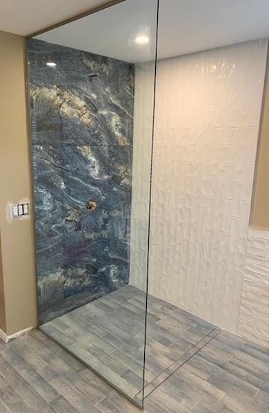 shower glass door installation